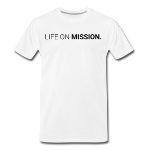 Life On Mission Tee (White) - white