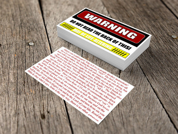 Warning Gospel Tracts