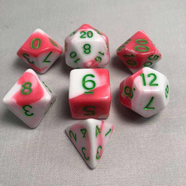 Blend Pink + White Dice Set