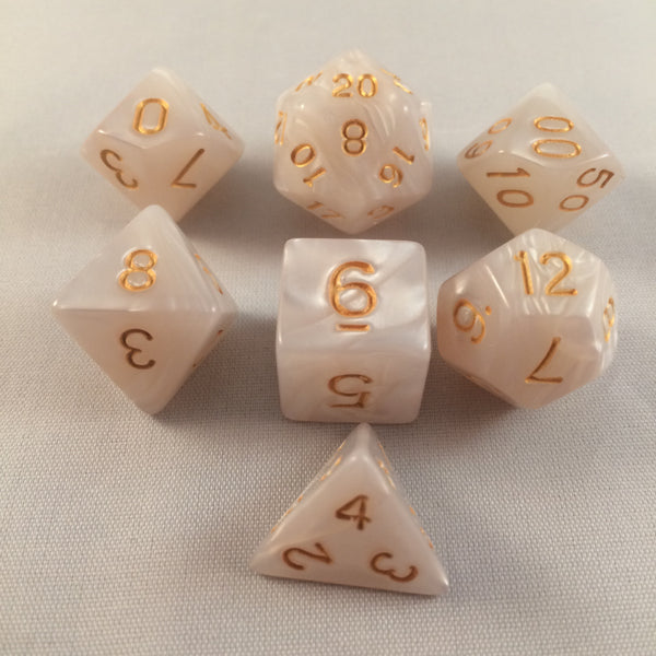 White Pearl Dice Set