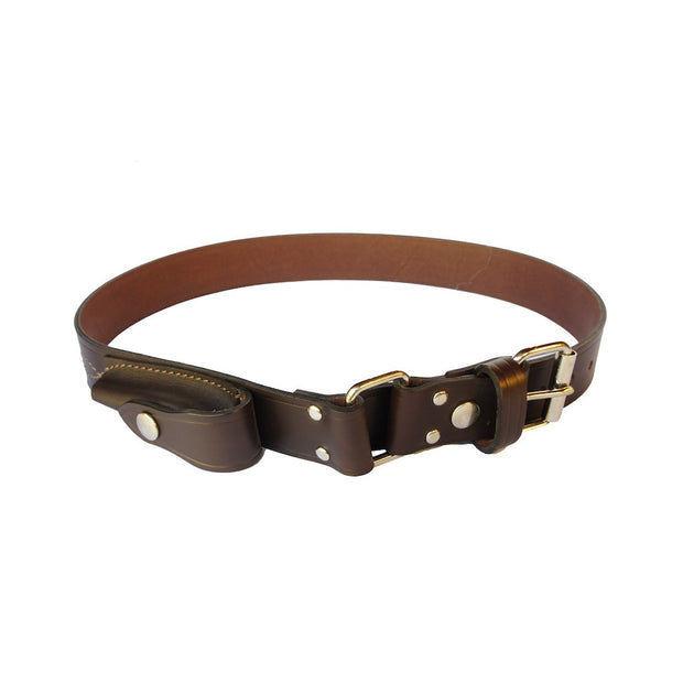 Leopold - Brown 100% Cowhide Leather Belt