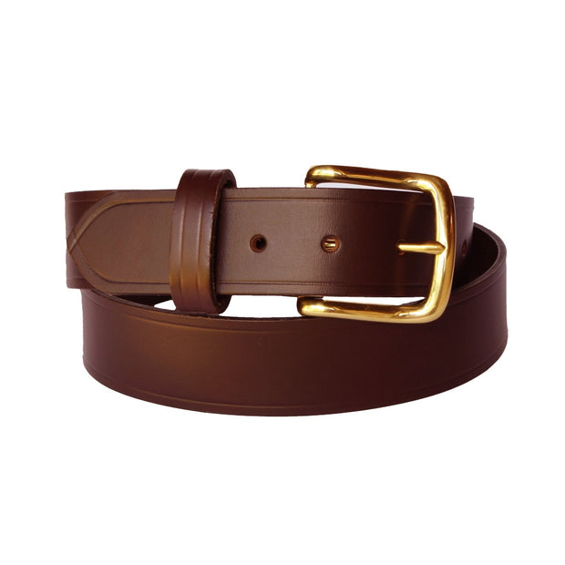Dampier - Brown 100% Cowhide Leather Belt