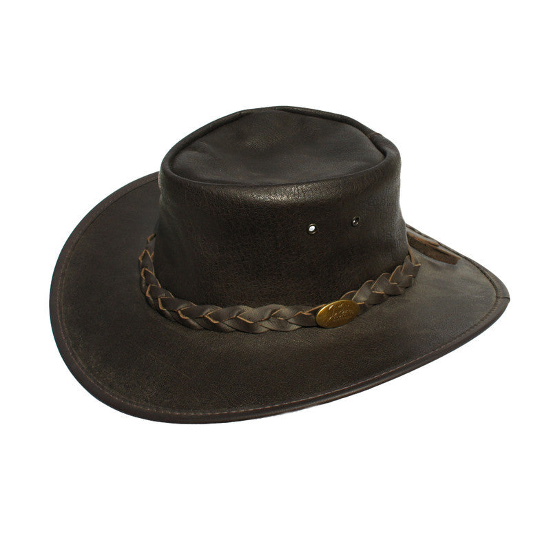 Jacaru Stockman - Buffalo Hide Leather Hat