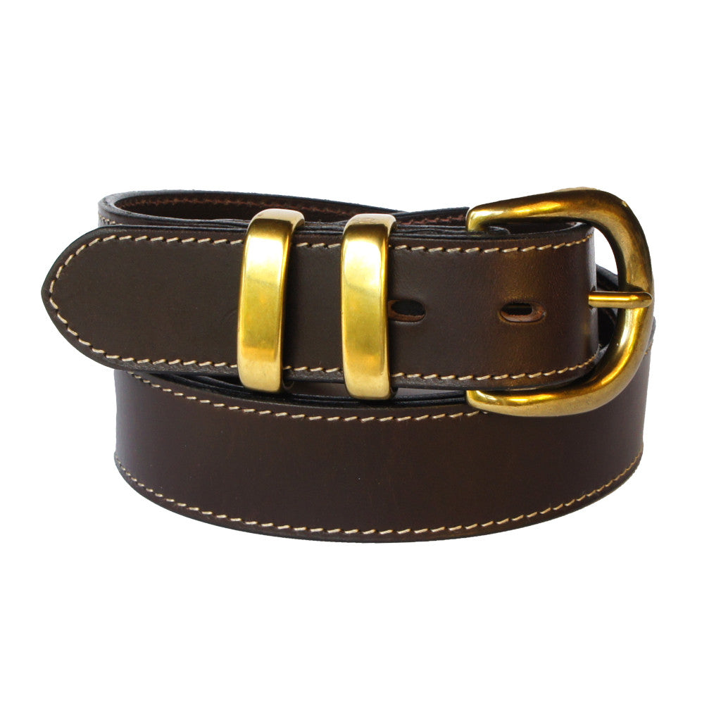 Albany - Brown 100% Cowhide Leather Belt