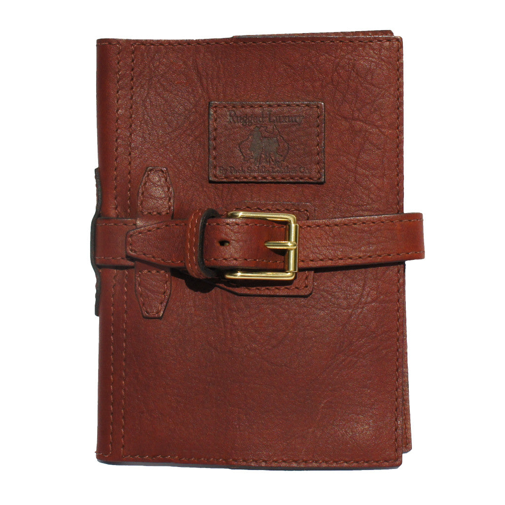 Halls A5 Diary Cover with Strap - 100% Genuine Cowhide Leather