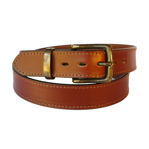 The Meekatharra - Brown 100% Cowhide Leather Belt
