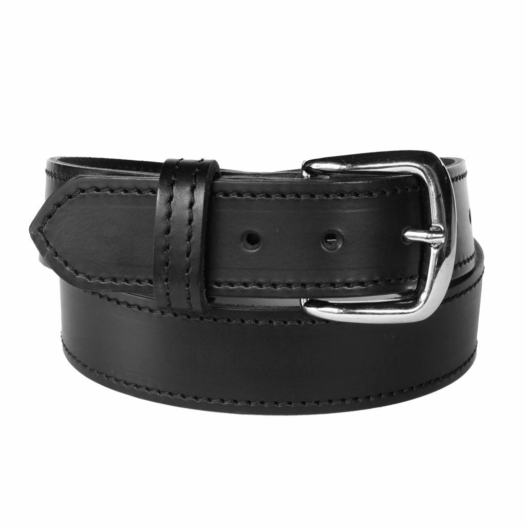 Prince - Black 100% Cowhide Leather Belt