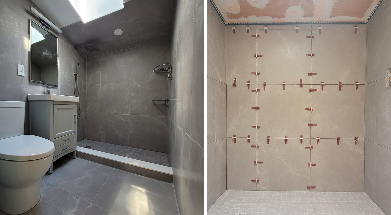 Shower Tile Install with Perfect Level Master