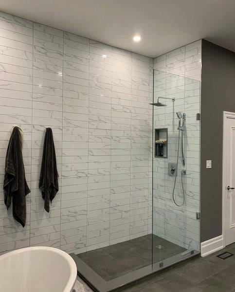 Bathroom Tiled Accent Wall