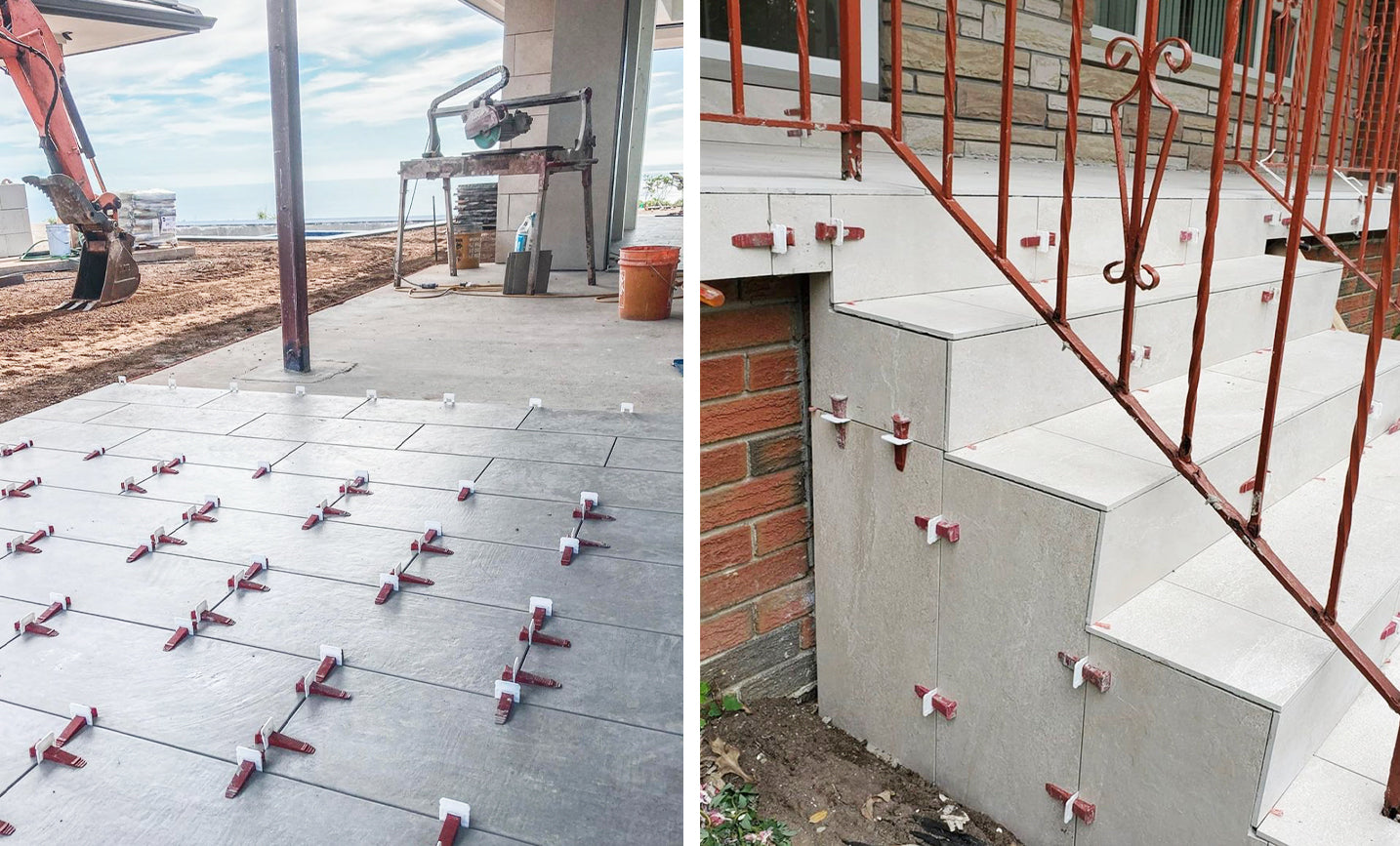Outdoor Tiles with Tile Levelers