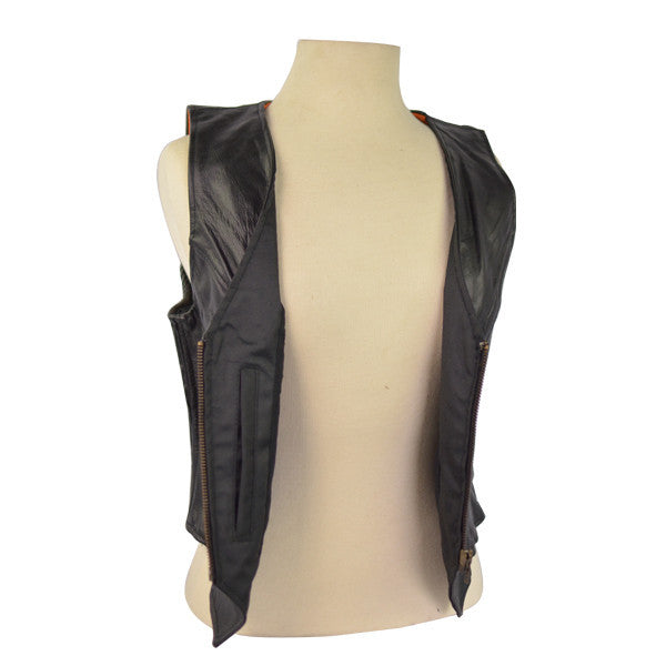 VL1011 Ladies Premium Quality Zipper Vest with Elastic Sides - Daytona Bikers Wear