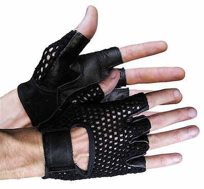 VL429 Vance Leather Mesh Back Fingerless Glove - Daytona Bikers Wear