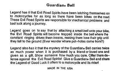 Guardian Bell Live To Ride/ Ride To Live