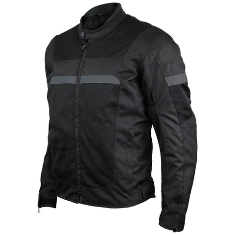 VL1624B Advanced 3-Season Mesh/Textile CE Armor Motorcycle Jacket