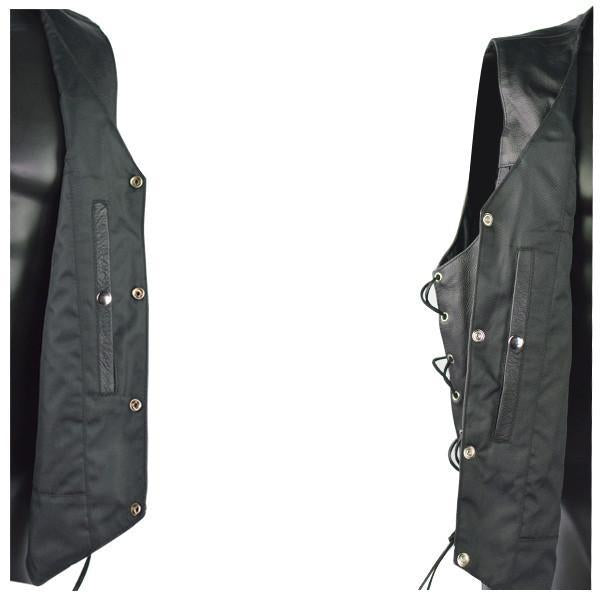 VL907 Vance Leather Premium Cowhide Vest with Buffalo Nickel Snaps and Gun Pocket - Daytona Bikers Wear