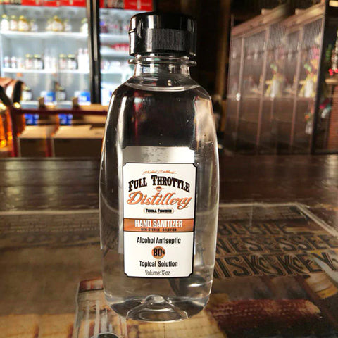 Full Throttle Distillery 80% Alcohol Antiseptic Liquid Hand Sanitizer