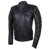 HMM539 Men's Leather Vented Scooter Jacket with Perforated Arm & Shoulder