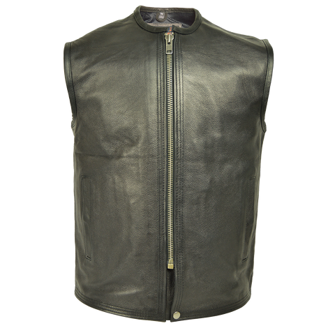 HMM932 Men's Naked Leather Premium Vest with Plain Sides