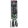 "HT118s ""Hawg Tyd"" The Authentic Leather Hair TYS - 18"" Green Beaded"