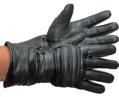 VL419 Vance Leaather Padded and Insulated Winter Gauntlet Gloves - Daytona Bikers Wear
