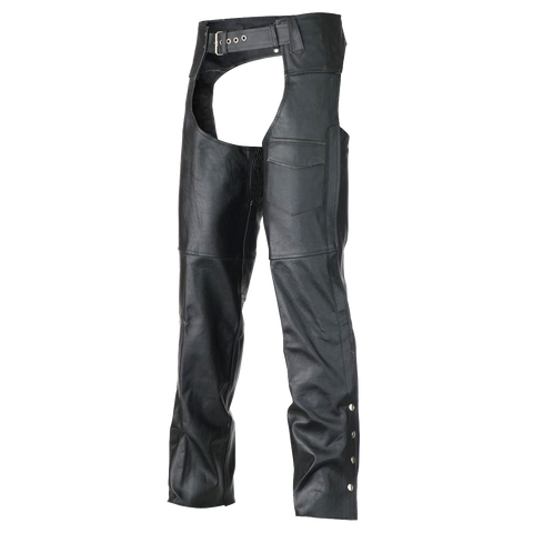 LC401 Classic Biker Leather Chaps