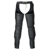 LC43404 Zip-Out Insulated Pant Style Zipper Pocket Leather Chaps
