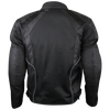 Mens Black Mesh Motorcycle Jacket with CE Armor