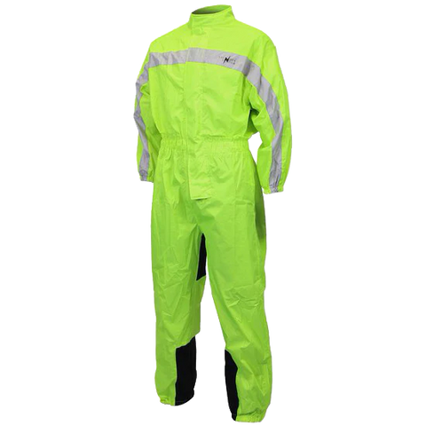 RS5004 One Piece High Visibility Yellow Motorcycle Rain Gear