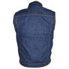 VB917 Men's Black or Blue Denim Vest with Collar