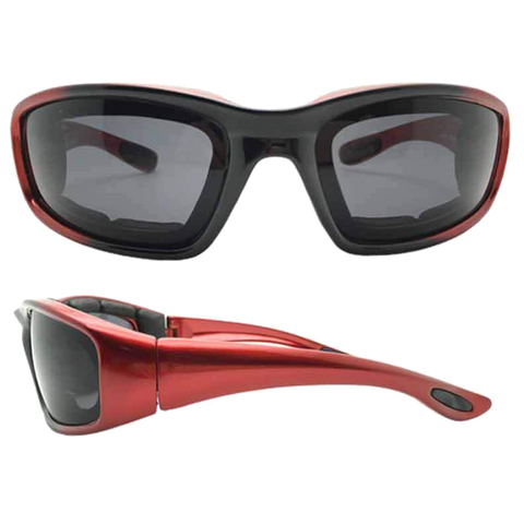 Dark Smoke Lens Motorcycle Sunglasses VE07 (various colors)