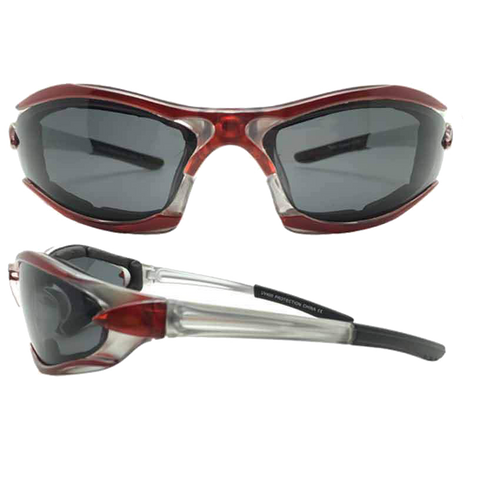 Dark Smoke Lens Motorcycle Sunglasses VE08 (various colors)