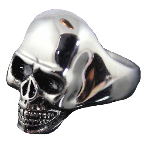 VJ1051 Stainless Steel Men's Large Skull Ring