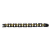 "VJ1155 Men's 3/4"" Wide Two Tone Black and Gold Bracelet"