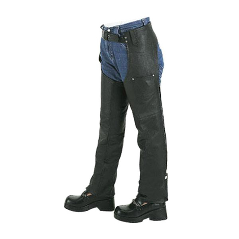 VK801 Kids Leather Motorcycle Chaps