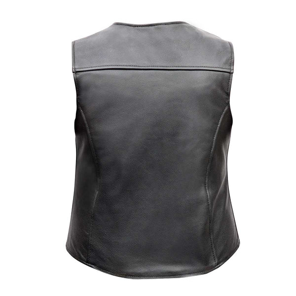 VL1047 Ladies Five Snap Premium Leather Vest from Vance Leather - Daytona Bikers Wear