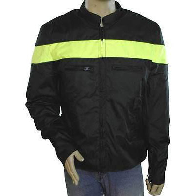 VL1563 Men's Vented Textile Jacket with Reflective Piping and Stripe