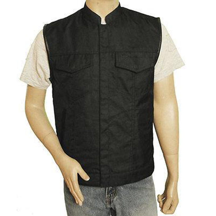 VL1911 Vance Leather Men's Textile Patch Holder Vest - Daytona Bikers Wear