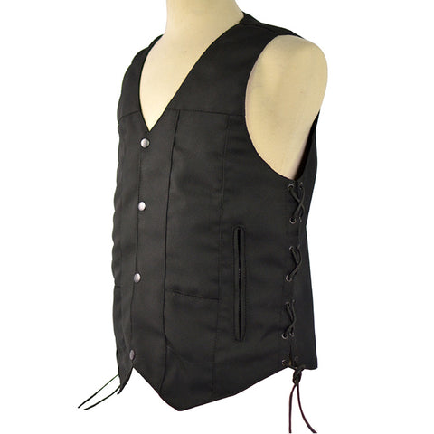 VL1915 Vance Leather Ten Pocket Textile Motorcycle Vest - Daytona Bikers Wear