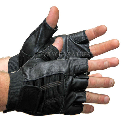 VL428 Vance Leather Spandex and Leather Shorty Glove - Daytona Bikers Wear