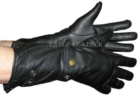 VL443 Lightweight Leather Gauntlet - Daytona Bikers Wear