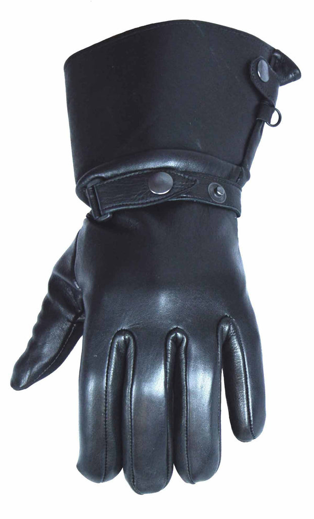 VL470 Vance Leather Deerskin Retro Gauntlet Glove - Daytona Bikers Wear