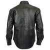 VL504 Vance Leather Men's Leather Shirt with Snap Down Collar