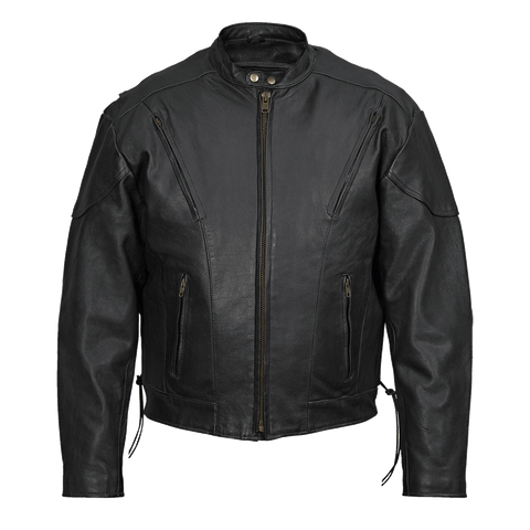VL511 Vance Leather Men's Fully Lined Racer Jacket