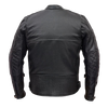 VL513 Vance Leather Men's Padded/Vented Scooter Jacket