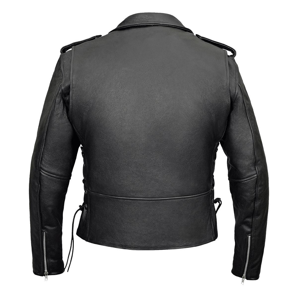 cc7bd0575a05 ... Vance Leather VL515 Men s Top Grain Leather Classic Motorcycle Jacket W Lace  Sides and Zip