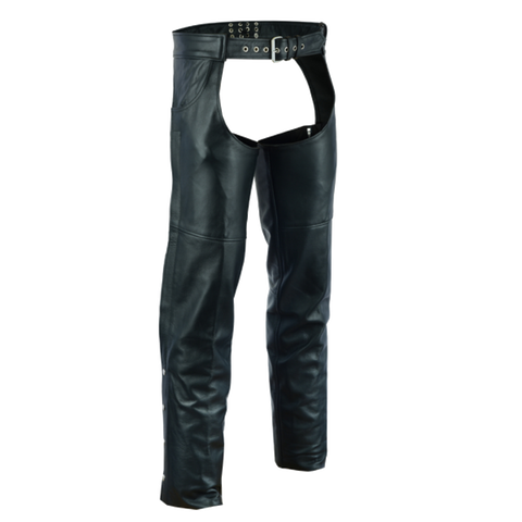 VL813 Vance Leather Levi Style Pocket Premium Leather Chaps