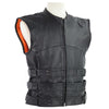 VL905 Tactical Bullet Proof Style Naked Cowhide Leather Vest - Daytona Bikers Wear