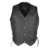 VL907 Vance Leather Premium Cowhide Vest with Buffalo Nickel Snaps and Gun Pocket