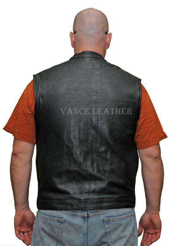 VL911 Vance Leather Premium Leather Men's Patch Holder Vest - Daytona Bikers Wear
