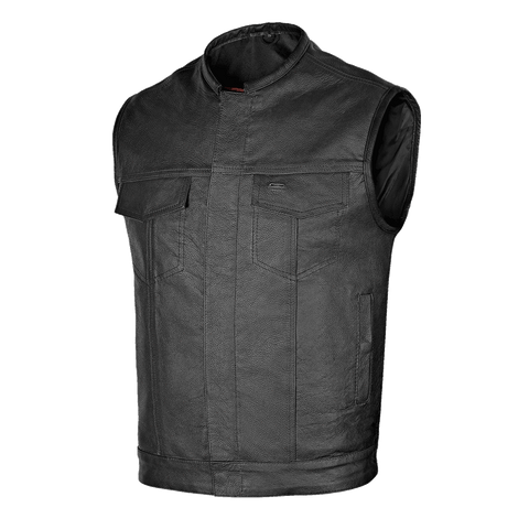 VL913 Leather Motorcycle Club Vest